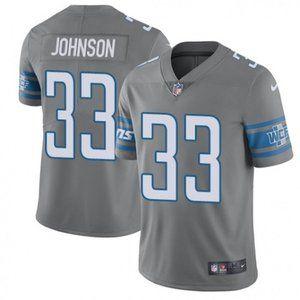 Lions Kerryon Johnson Gray Jersey